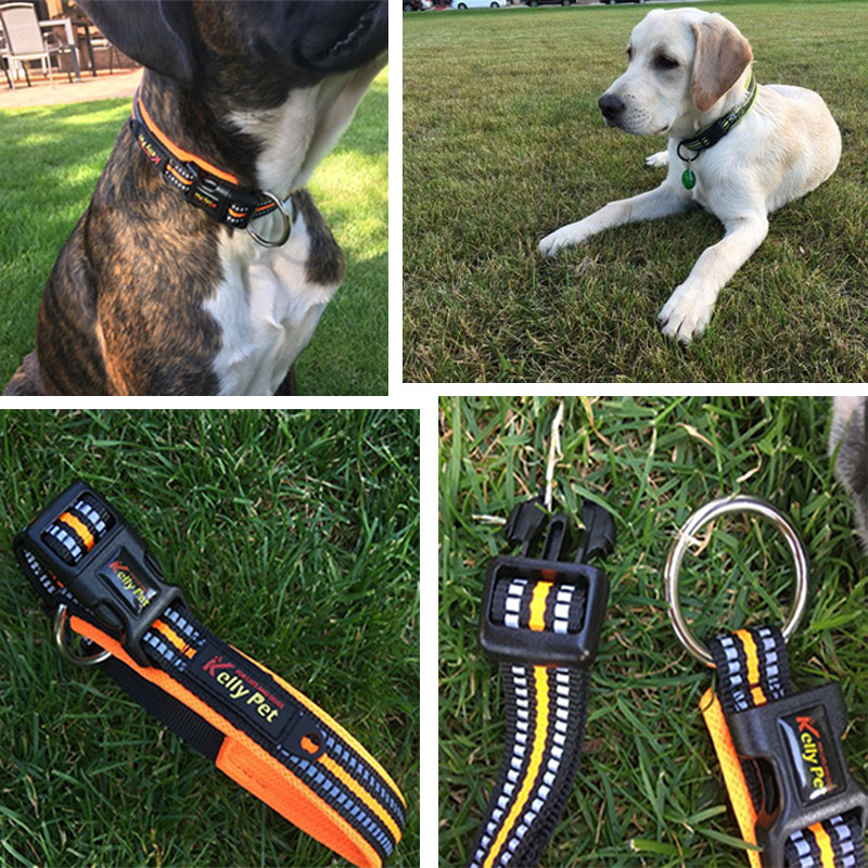 Fashion Pet Dog Collar Reflective Nylon Leash Leads Puppy Collar For Small Big Large Dogs Reflective Collar Pet Leads Safety in Collars from Home Garden