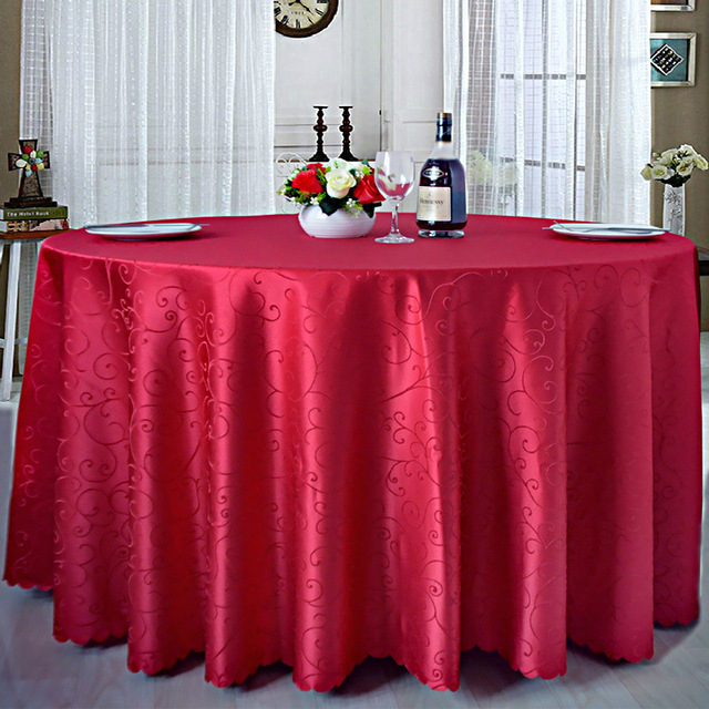 polyester table ronde tissu tissu rectangulaire nappes pour htel de noce toile cire grande taille nappe - Toile Ciree Pour Table De Jardin