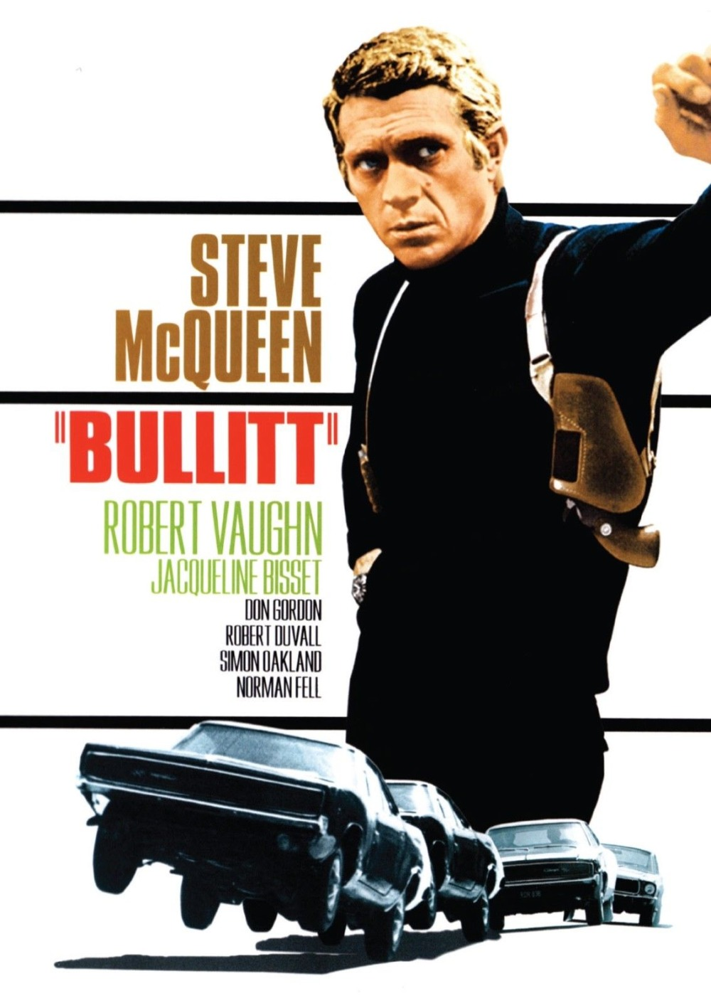 Bullitt Steve McQueen Vintage Movie SILK POSTER Decorative painting 24x36inch