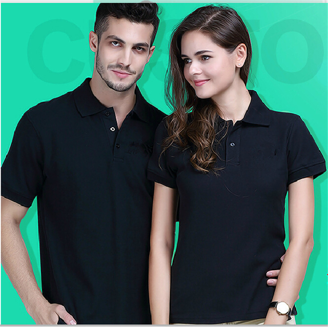 2016 Summer New Women Lapel Collar Short Sleeve Solid Color Cotton POLO Shirts Ladies Tops