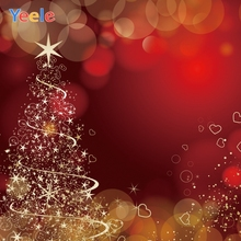 Yeele Christmas Bokeh Lights Nice Glitter China Red Photography Backdrops Personalized Photographic Backgrounds For Photo Studio