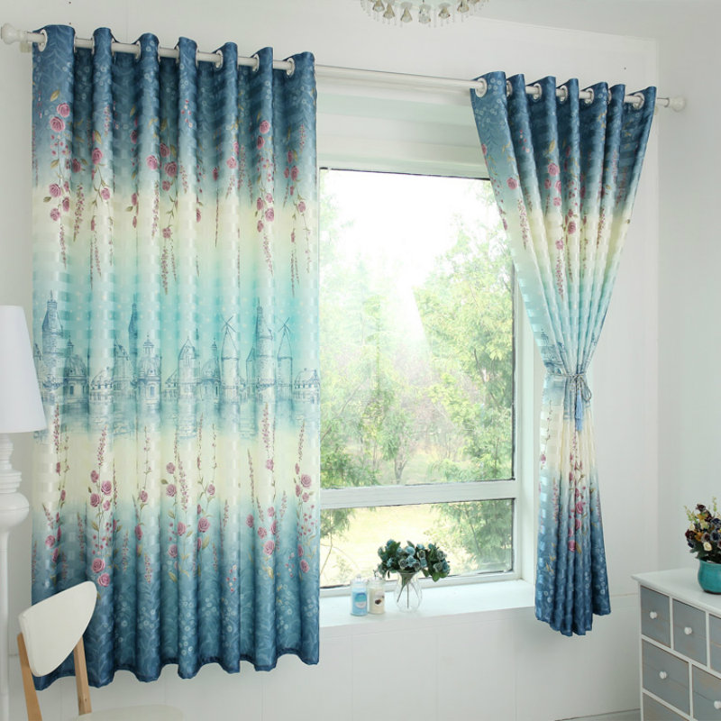 Popular Blue Rose Curtains-Buy Cheap Blue Rose Curtains