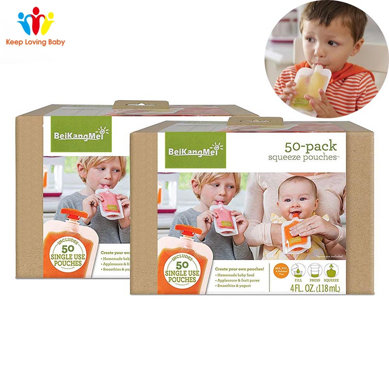 Single Use Food Pouch Packaging Squeeze Plastic Smoothie Squeeze Bags Refillable Fresh Storage Bag Lid Baby food storage boxSingle Use Food Pouch Packaging Squeeze Plastic Smoothie Squeeze Bags Refillable Fresh Storage Bag Lid Baby food storage box
