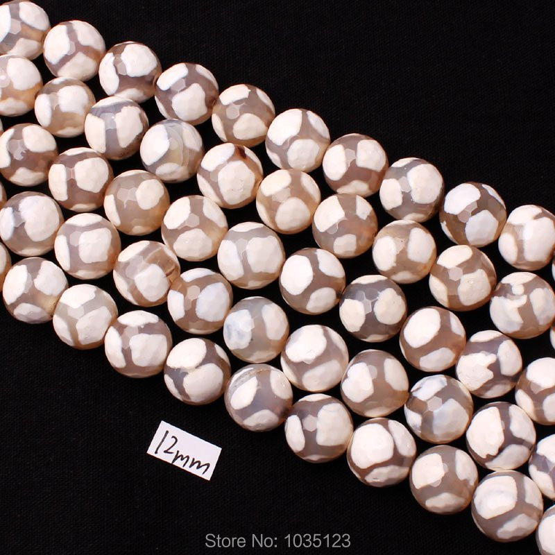 Free Shipping 12mm Natural Multicolor Stone Faceted Round Shape DIY Gems Loose Beads Strand 15 Jewellery Creative Making w3328