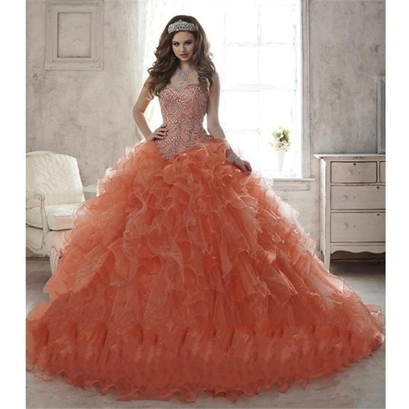 Online Buy Wholesale Peach Quinceanera Dresses From China Peach Quinceanera Dresses Wholesalers