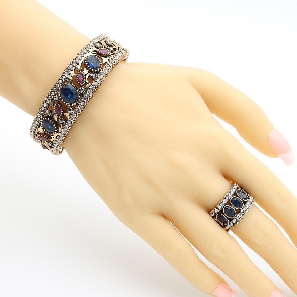 Etičke žene smole rezbarati prsten za zagrljaje turske mladenke - Modni nakit - Foto 3
