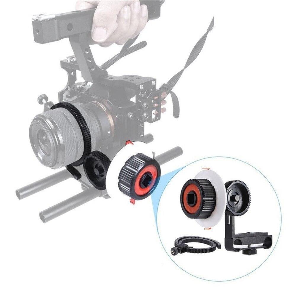 В наличии! Демпфирования Дизайн высокая прочность Алюминий сплав Камера Следуйте Фокус с Шестерни кольцо пояса подходит для камеры Sony A7 ilcd