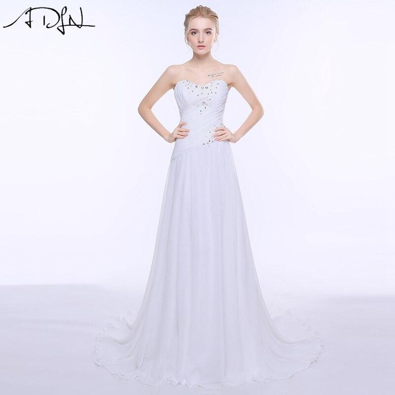 Sweetheart Sleeveless Chiffon Wedding Dress