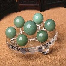 Natural crystal dongling jade green ball seven-star array