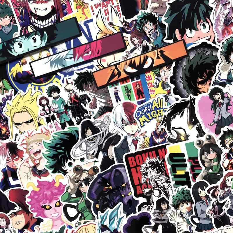 70 قطعة/الوحدة الكتابة على الجدران ملصق أنيمي بطلي الأكاديمية الكرتون الاطفال ملصقات سكرابوكينغ الغيتار PVC للماء لوح التزلج ملصقات