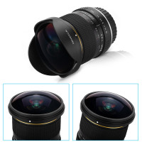 8mm F/3.5 Ultra Wide Angle Fisheye Lens for Nikon DSLR Camera D3100 D3200 D5200 D5500 D7000 D7200 D800 D700 D90 D7100