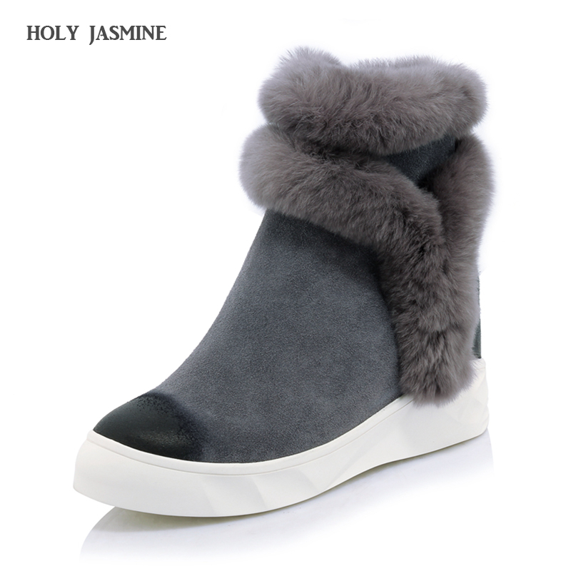 цены на Hot sale New 2017 Winter High Quality Women Classic Mini Snow Boots Genuine sheepskin Warm Shoes real wool women ankle boots