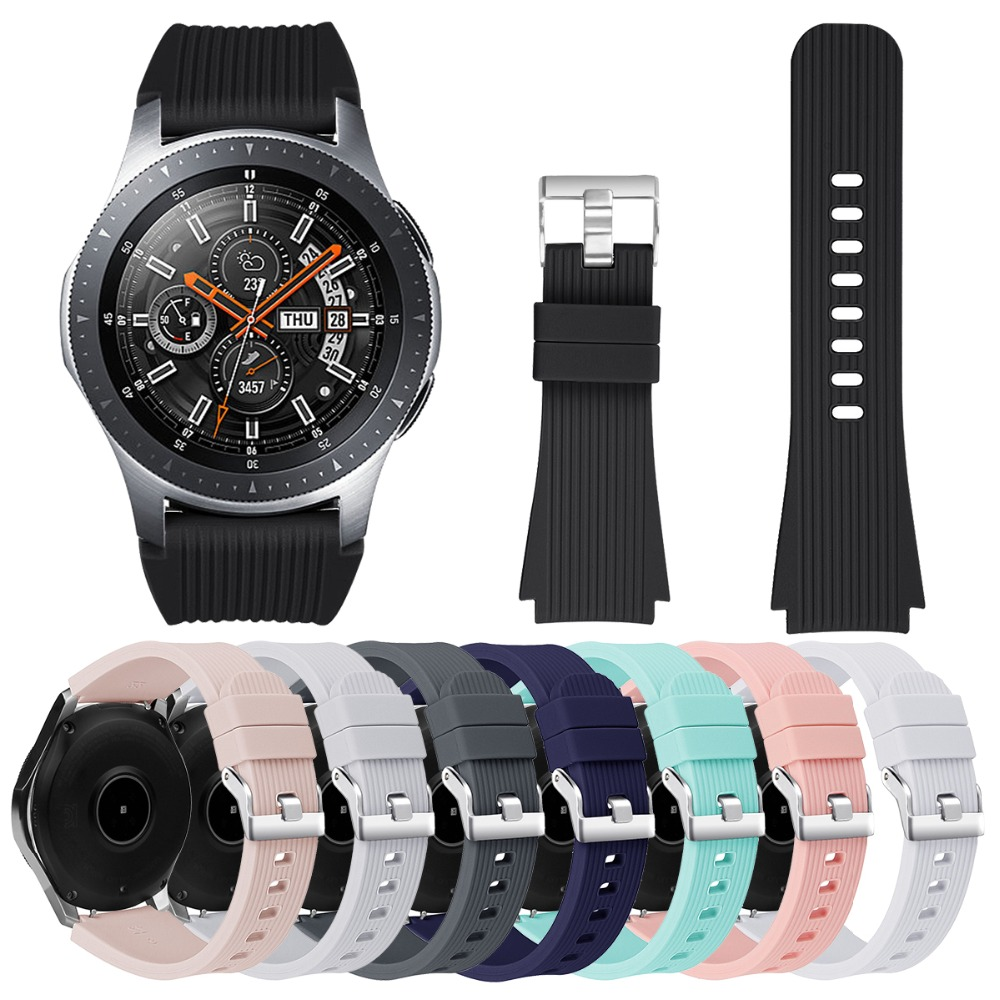 22mm Silicone Band For Samsung Galaxy Watch Sport Rubber Replacement Bracelet WatchBand Strap For  Galaxy Watch 46mm Black White