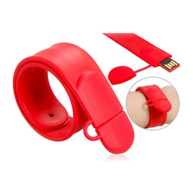Slap Wristband 4gb 8gb 16gb 32gb Red Bracelet Usb Flash Disk Drive Pen