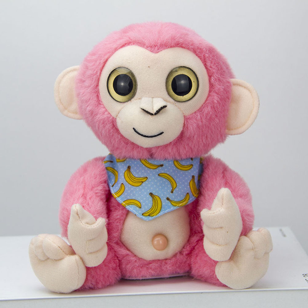 5 Colors Plush Toy Electricity Record Learning Swing Monkey Doll Simulation Monkey Walkie Talkies Children Gift Dropshiping