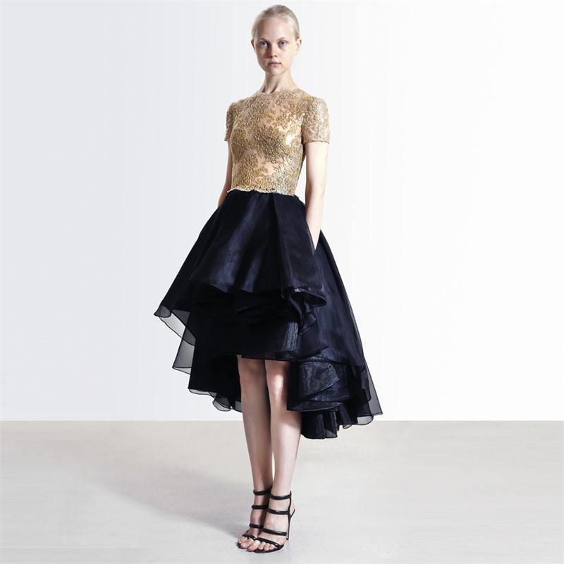 Compare Prices on High Low Prom Dress Black and Gold- Online ...