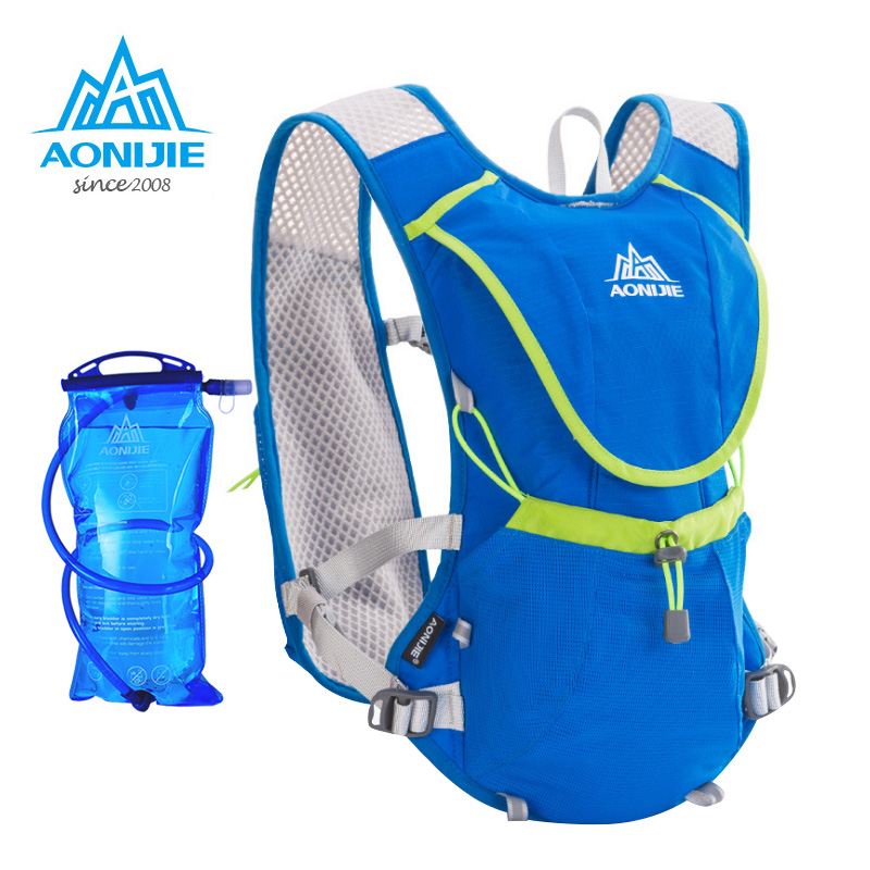 AONIJIE Marathon Cycling Hiking Bag Lightweight Running Backpack Outdoor Sports With Optional 1.5L Hydration Water Bag стоимость