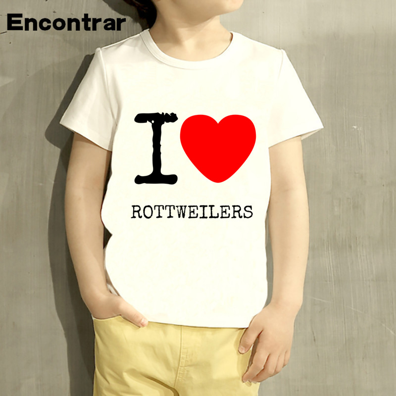 Childrens Rottweiler Dog Tide brand Lover Design Baby Boys/Girl TShirt Kids Funny Short Sleeve Tops Children Cute TShirt,HKP453