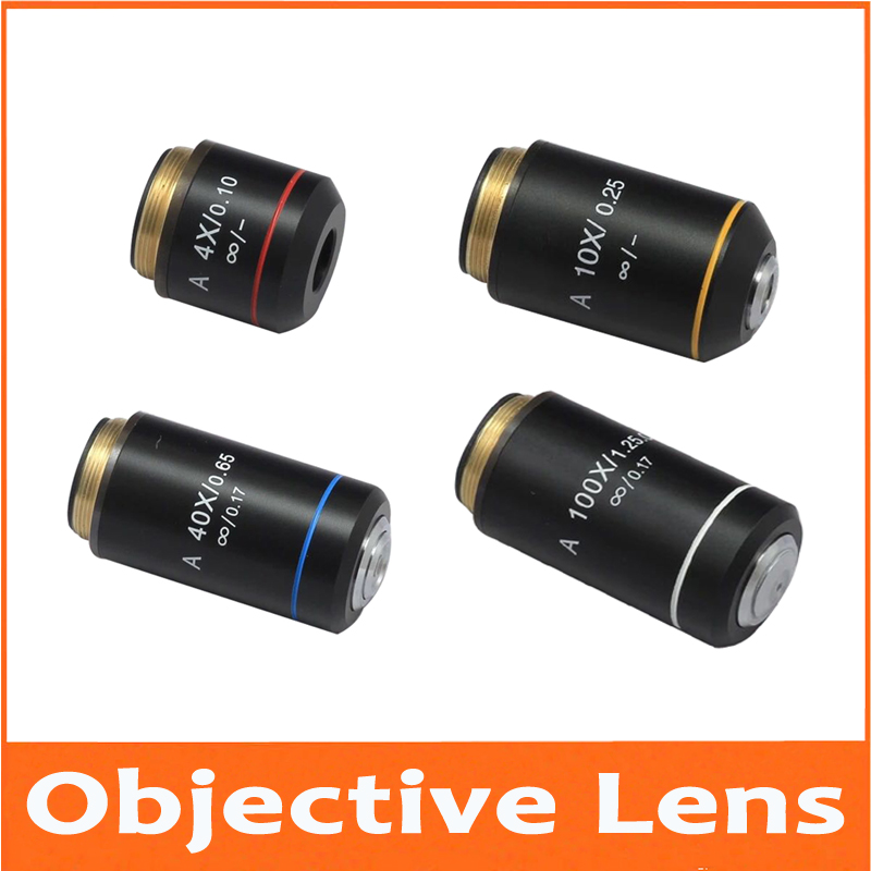 4X 10X 40X 100X Infinity Biological Microscope Achromatic Objective Lens Olympus Biomicroscope UIS2 infinity Optical System цена