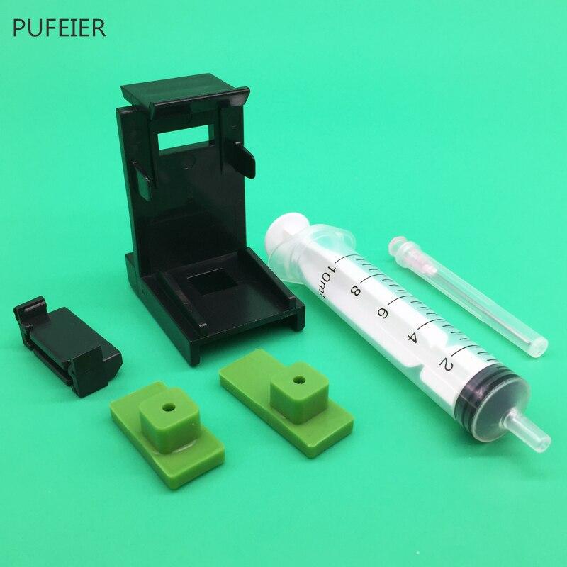 유니버설 diy ciss 잉크 카트리지 클램프 흡수 클립 엡손 캐논 hp에 대한 10 ml 주사기 바늘 키트와 잉크 리필 도구를 펌핑