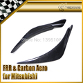 New Car Styling For Mitsubishi Evolution VIII EVO 8 Ralliart Style Carbon FIber Front Bumper Canard 2pcs In Stock