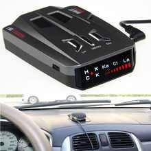 V9 Anti laser Do Radar Do Carro Detector de Rússia/Inglês 16 Cheio de Marcas Display LED X K NK Ku Ka Melhor Detector de Controle de Velocidade Do Carro