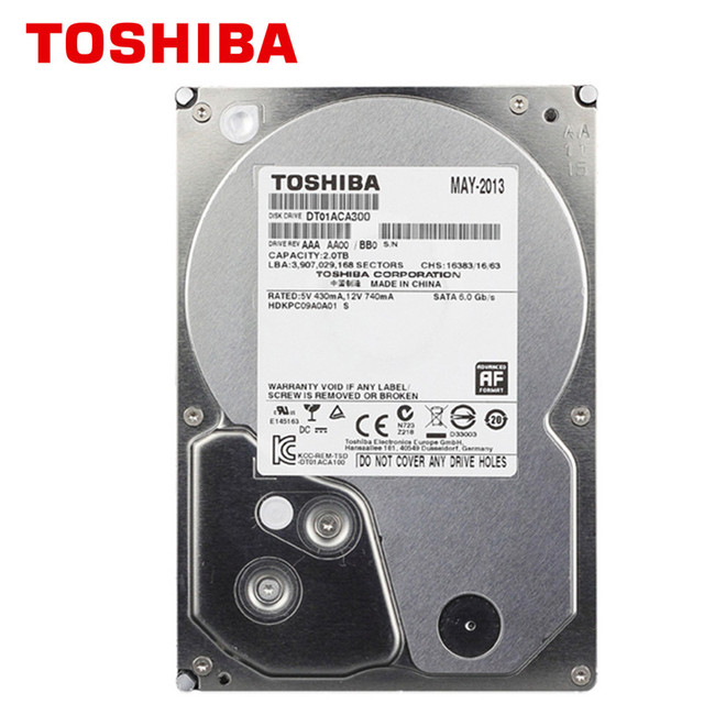 "TOSHIBA 3TB HDD HD 7200RPM 3.5"" 64MB 3000GB 3000G SATA3 Internal Hard Disk Drive for Desktop PC"
