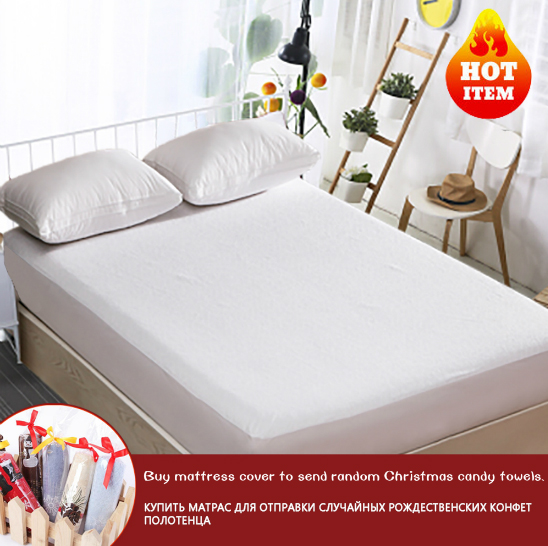 160X200cm Elite Terry Waterproof Luxury Mattress Protector Hypoallergenic Mattress Cover Breathable Mattress Pad For Bed Bug