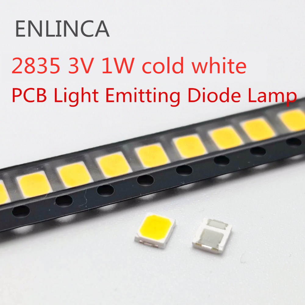 500pcs FOR LG Original <font><b>LED</b></font> LCD TV backlight lamp beads lens <font><b>1W</b></font> <font><b>3v</b></font> 3528 <font><b>2835</b></font> cold cool white light bead image
