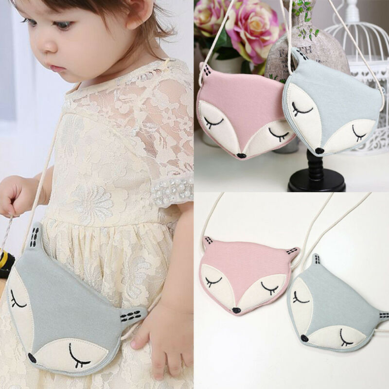 Kids Baby Girls Shoulder Bags Cute Cartoon LIttle Animal Messenger Storage Bag Single Crossbody Bag Coin Purse
