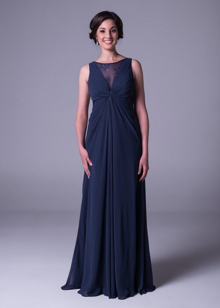 Vestido de Madrinha femmes O cou élégante robe de soirée mère de la mariée robes plage étage longueur maman vêtements