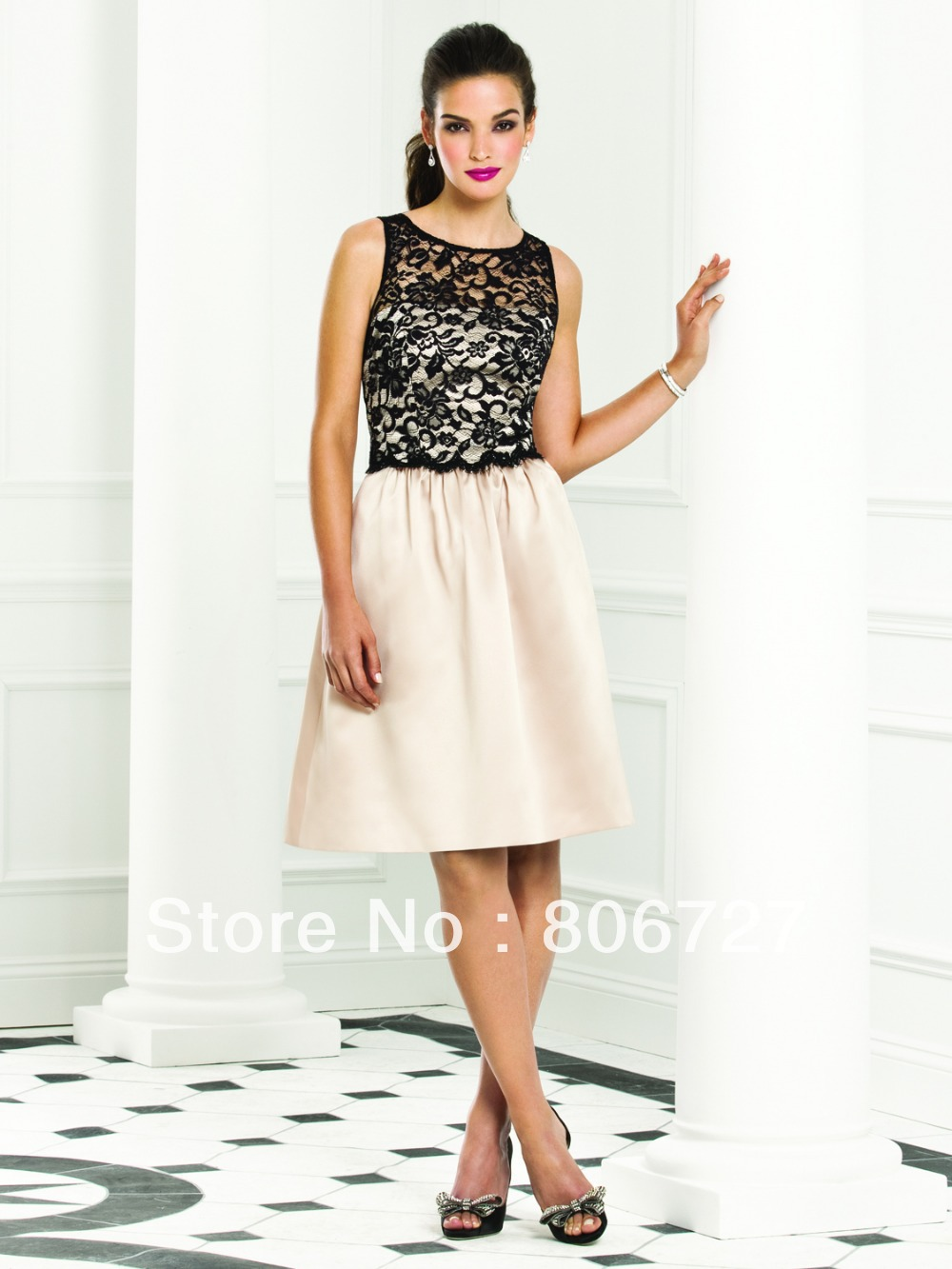 Aliexpress buy hot purchasing a line lace knee length aliexpress buy hot purchasing a line lace knee length bridesmaid dress patterns from reliable patterns for lace dress suppliers on sinzu ombrellifo Images
