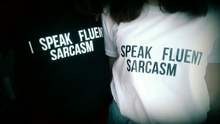 """I Speak Fluent Sarcasm"" Women T-shirt"