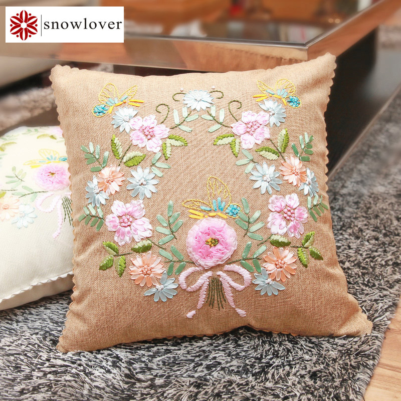№butterfly peony flowers diy ribbon embroidery