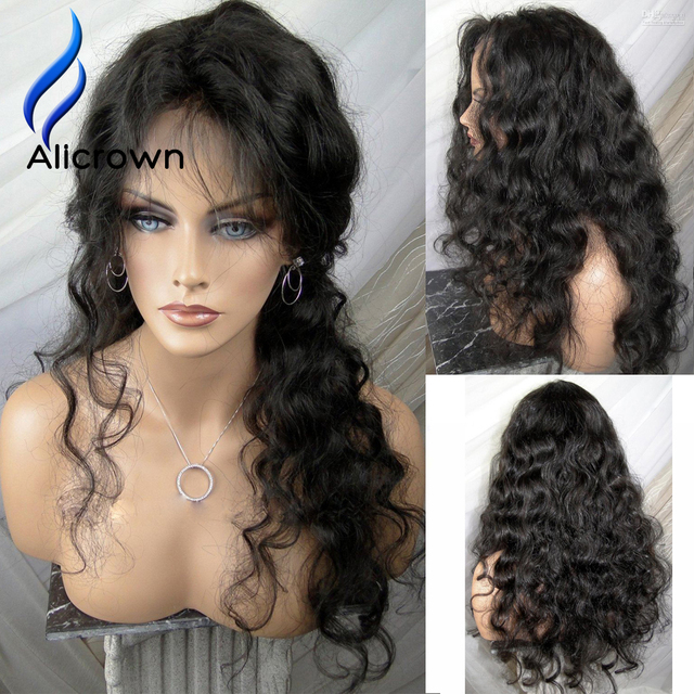Alicrown Curly Lace Front Wig Brazilian Full Lace Wig With Baby Hair Human Hair Wigs For Black Women U Part Human Hair Wigs