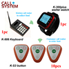 Restaurant Pager Wireless Calling Paging System With 1 Watch Receiver 10 Call Button 1 Kicthen Equipment