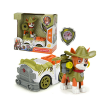 Paw Patrol Dog Toy Tracker Jungle tracking Car Dog Patrulla Canina Action Figures Anime Figures model Toy for Children Best Gift original egg mimikyu figures anime action toy figures collection model toy car decoration toy ken hu store pokemones