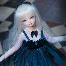 1c3f94325 O envio gratuito de 1/4 boneca bjd 45 cm com/sem sapatos roupas longo  castanho ondulado cabelo maquiagem corpo conjunta