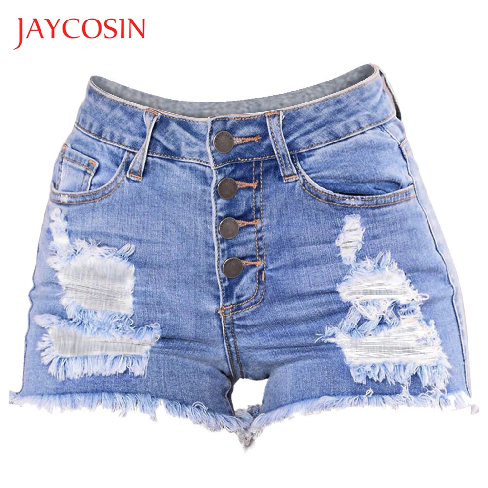 JAYCOSIN Slim Women Washed Ripped Hole  Mini Jeans Denim Sexy Pants Shorts Short It Is Made Of High Quality Materials