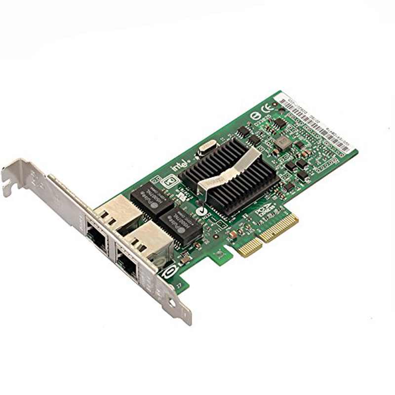 PCI-Express Dual Port 10/100/1000Mbps Gigabit Ethernet Controller Card Server Adapter NIC EXPI9402PT 9402PT 82571 dual port multi mode pcie x4 gigabit server adapter nic card fiber lc expi9402pf
