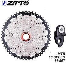 ZTTO Cassette Freewheel 10 Speed 11-50T MTB Mountain Bike 10s 20s 30s Apply to XT SLX XO X0 X9 X7 Bicycle Parts