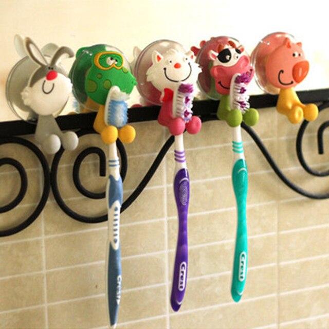 1X с животными милый мультяшный присоски держатель для зубной щетки комплект настенный приклеивающийся держатель для держатели для зубных щеток для Зубная щётка es
