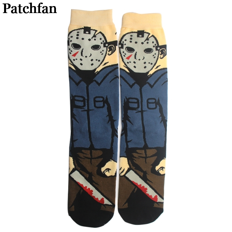 12pairs/lot Patchfan Friday the 13th movie funny 90s Anime Printed Women Socks Ankle Socks Kawaii party favor cosplay gift A2171 image