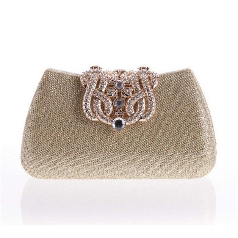 Oro Completo de Embrague de Lujo Corona de Diamantes bolsos de Noche bolsos de E