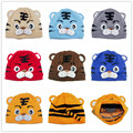 Crianças tigre cartoon chapéu do bebê de crochê beanie infantil Crianças Crianças cap linecaps malha criança tampas 10 pcs lote H001