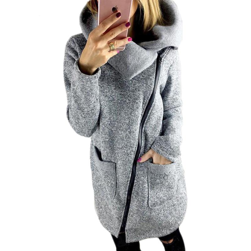 2017 S-5XL Big Size Women Autumn Winter Coats Camperas Mujer Fashion Side Zipper Fleece Warm Basic Jacket Bomber Mujer E0503
