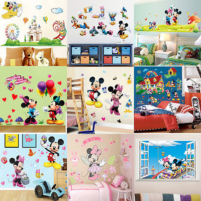... More Designs Mickey Mouse Clubhouse Minnie Wall Sticker Removable Vinyl  Art Wall Decals Baby Nursery Room ...
