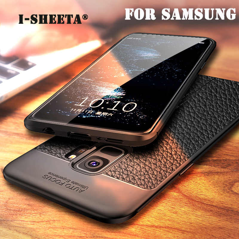 Soft TPU Silicone Leather 3D Pattern Phone Case For Samsung Galaxy S9 S9 Plus Note 8 9 S7 edge Matte Back Cover Protection Case