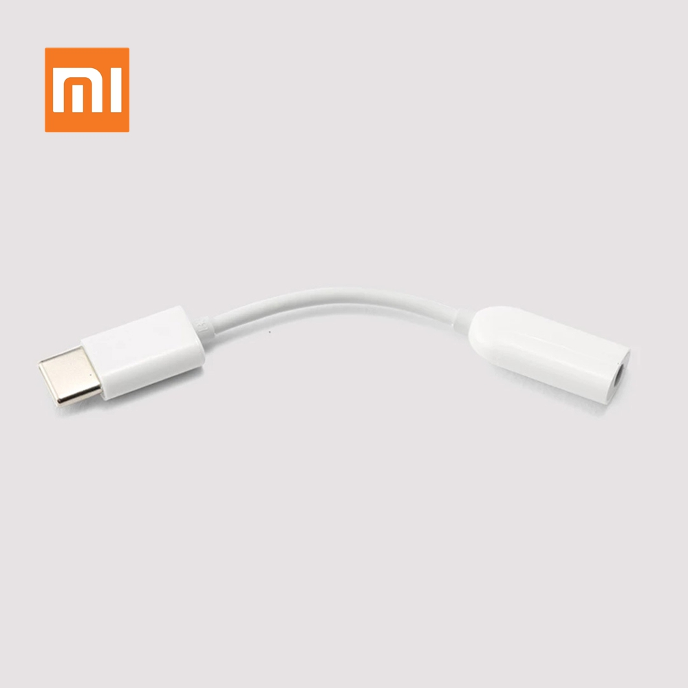 Original Xiaomi Type-C To AUDIO Male To 3.5mm Female Audio Adapter Type C To 3.5 Headphone Aux Mi6 Mi 6 A2 Note 3 MIX 2S P20