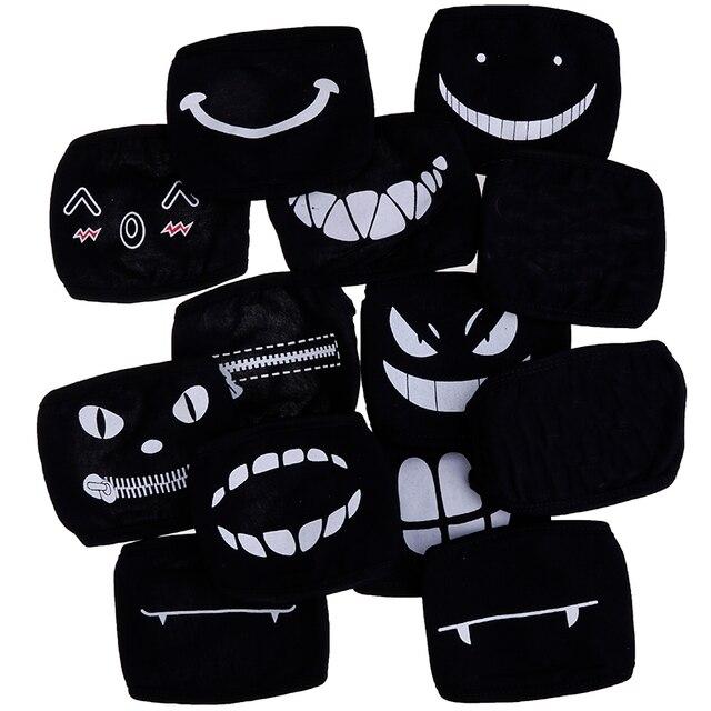 1PC Black Anime Cartoon Kpop Lucky Bear Unisex Muffle Face Mouth Masks Kawaii Cotton Dustproof Mouth Face Mask 12 Styles 2